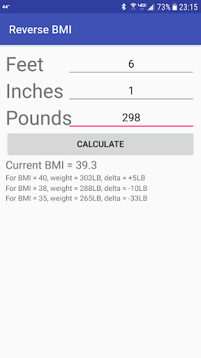 Orthopedic BMI Calculator screenshot for Android