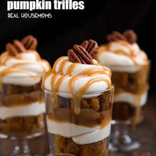 Mini Caramel Pumpkin Trifles.