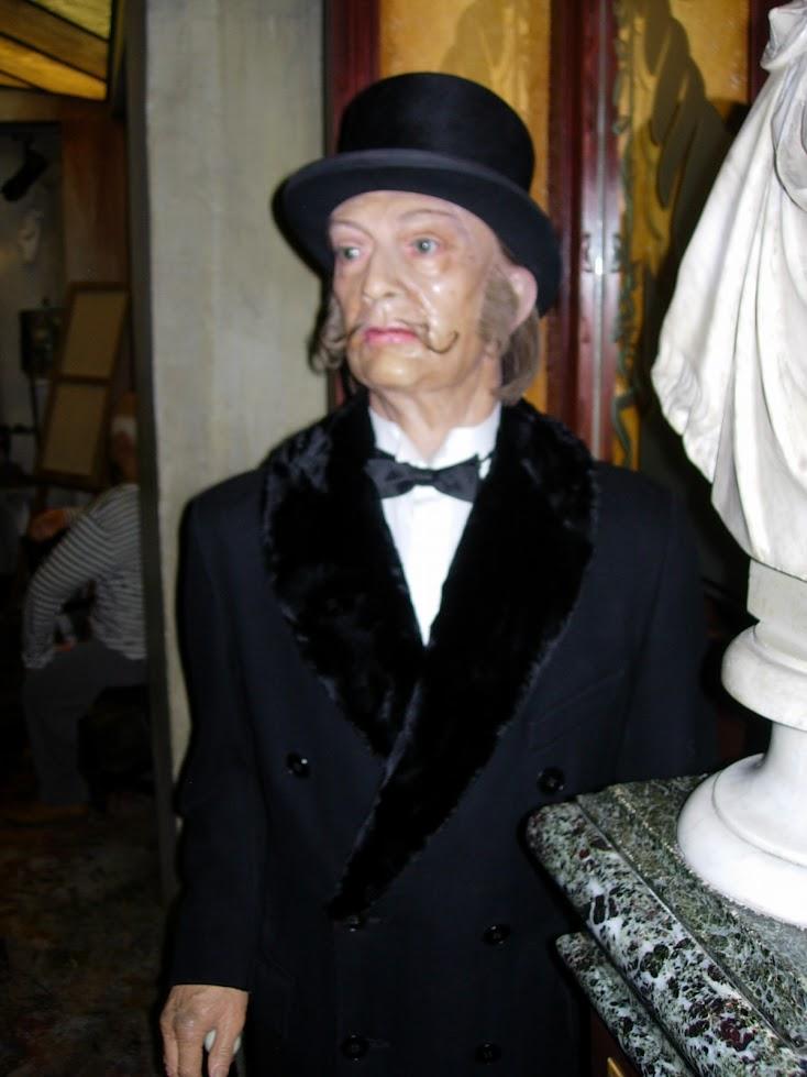 Salvador Dali au Musée Grévin à Paris