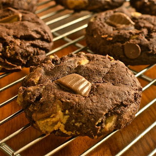Chocolate Peanut Butter Cup Cookies.