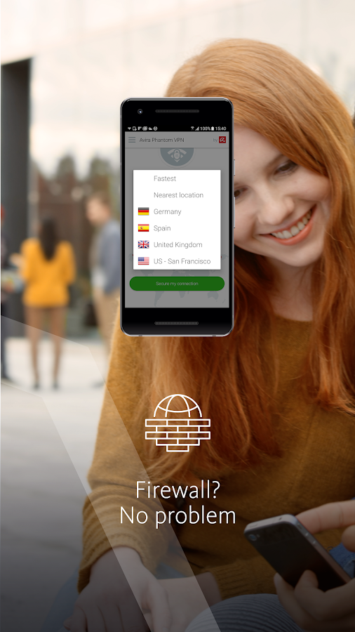 Free VPN: Avira Phantom VPN- screenshot