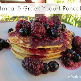 Oatmeal & Greek Yogurt Pancakes 0