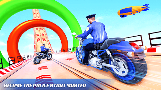 Police Bike Stunt Racing: Mega Ramp Stunts Games modavailable screenshots 2