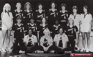 Photo: Teresa Ray (front left) and the 1980-81 OU women's basketball team.