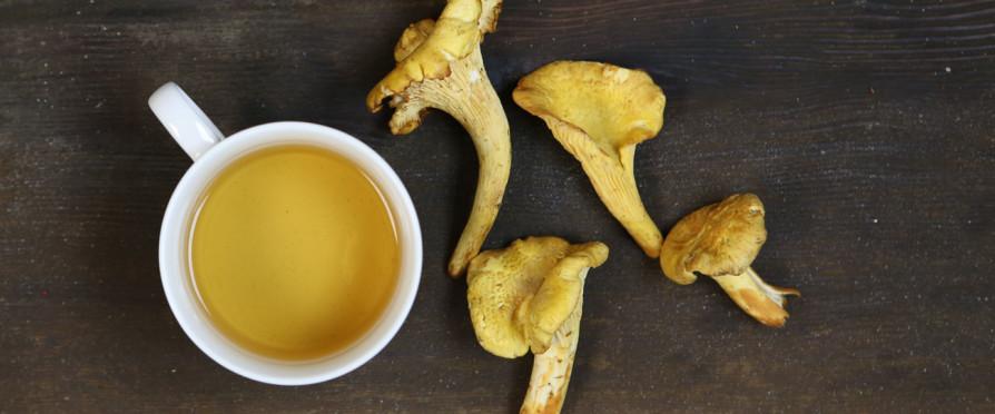 mushroom with Pu erh tea