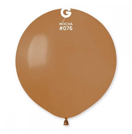 Ballonger helrunda 48 cm, mocca