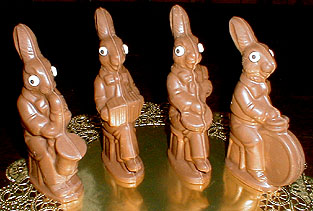 Hey, you got your banjo-playing bunny in my chocolate!