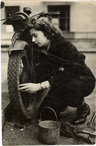 During the London Blitz, Grandma was a motorcycle courier working for the Ministry of Information