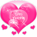 Pink Love Theme GO SMS Pro icon
