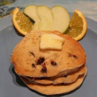 Banana Pineapple Chocolate Chip Pancakes.