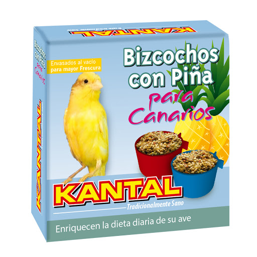alimento para mascotas bizcochos con pina para canarios 4und