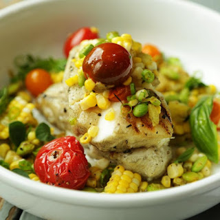Grilled Sea Bass and Corn Salsa Recipe with Hatch Chiles