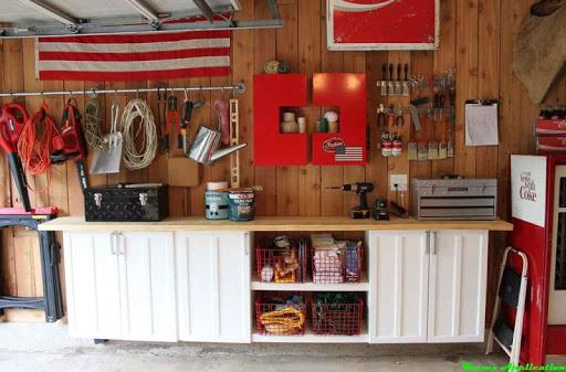 DIYのガレージワークベンチのアイデア