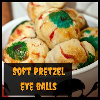Creepy Soft Pretzel Eye Balls