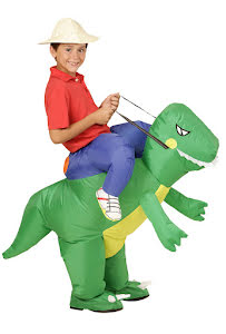 Uppblåsbar dinosauriedräkt, barn