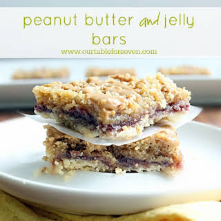 Peanut Butter and Jelly Bars.