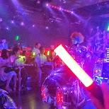 glowsticking away in Kabukicho, Tokyo, Japan