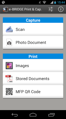 e-BRIDGE Print & Capture - screenshot