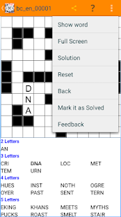 Fill in crosswords Puzzles- screenshot thumbnail