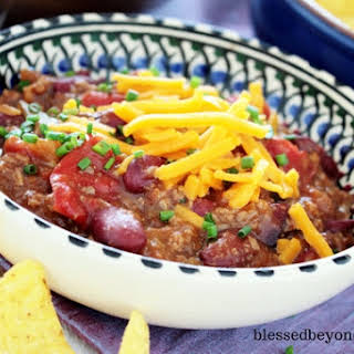 Simple and Easy Crock Pot Chili.
