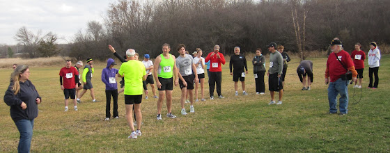 Photo: the group is getting ready for the start of the race