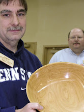Photo: Tim Aley with his large cherry bowl