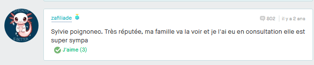 Sylvie POIGNONEC avis lu sur www.vinted.fr