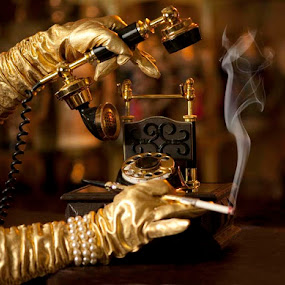 Hello Darling by Merna Nobile - Artistic Objects Antiques ( artistic, objects, telephone )