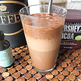 Low Fat Mocha Iced Coffee Frappe [Dairy Free, No Sugar Added].