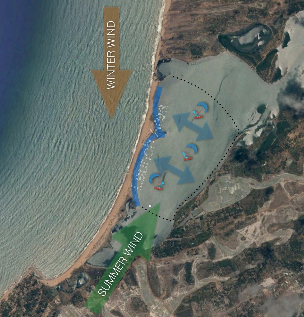 Sri. Lanka Kalpitiya Kiteboarding. Kalpitiya Lagoon Map.