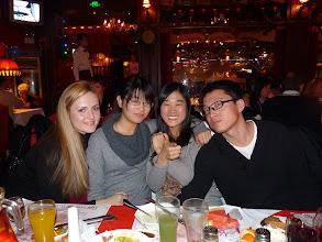 Photo: Beijing - TB dinner in russian restaurant Elephant, UA Olesya, CN Stella and Sherry and team leader Ivan