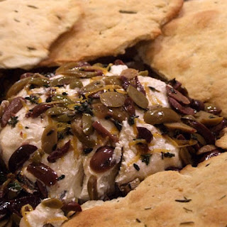Goat Cheese with Olives, Lemon and Thyme Recipe