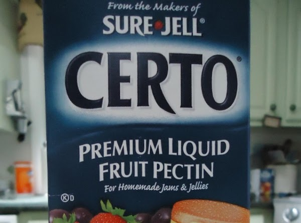 Add one package of certo and stir until mixture comes to a full boil...