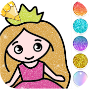 Princess Coloring Book for Kids - Glitter