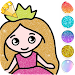 Princess Coloring Book for Kids - Glitter icon