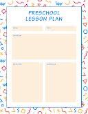 Squiggles Preschool Plan - Weekly Planner item