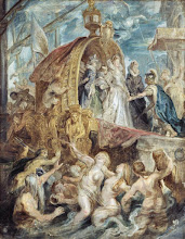 Photo: Peter Paul Rubens, The Landing in Marseilles (Sketch for the Medici Cycle), 1622