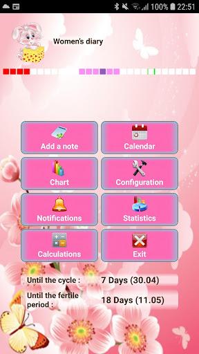 Woman diary (calendar) screenshots 1