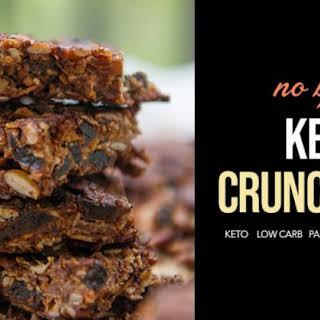 Keto-Friendly Chocolatey Crunch Bar.