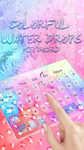 Colorful Water Drop Keyboard Theme ss2
