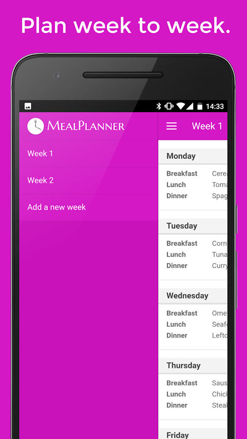 Plan Meals - MealPlanner- screenshot
