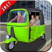 Real Rickshaw Driver 2017 - Chingchi Rickshaw Game