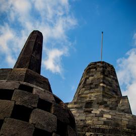 Stupa of Borobudur by Norbertus Andreanto Photos - Buildings & Architecture Statues & Monuments ( magelang, budha, java, borobudur, candi, budhism, temple, history, indonesia )