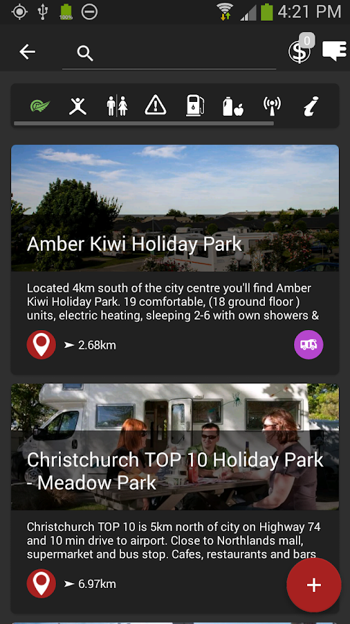 Holiday Parks NZ- screenshot
