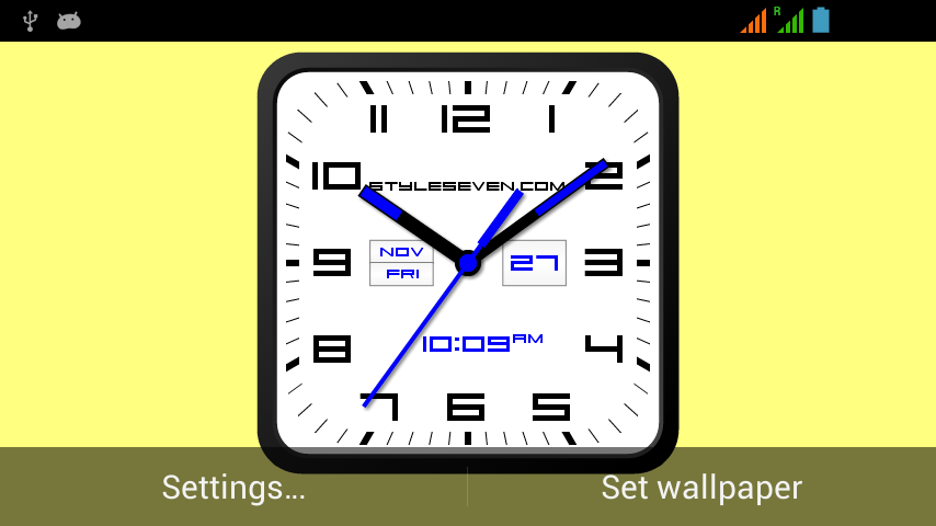 android Square Clock Android-7 PRO Screenshot 3