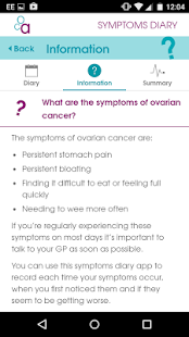 Ovarian Cancer Symptoms Diary- screenshot thumbnail