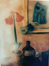 Photo: Aschermittwochstimmung, Pastell, 1958 - verkauft/Dallas