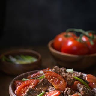 Gluten Free Beef and Tomato {Chinese Style, Paleo Option}.