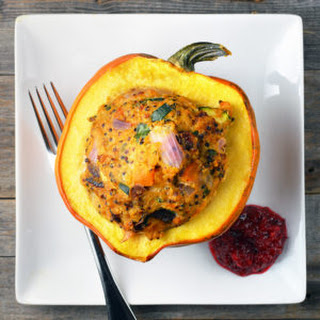 Turkey and Quinoa Stuffed Acorn Squash