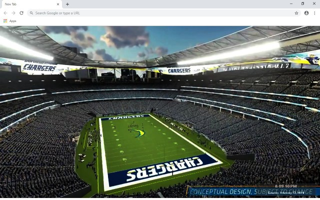 NFL San Diego Chargers New Tab
